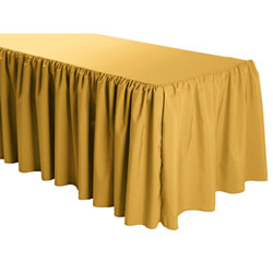 Shirred Polyester Table Skirts - 8 Foot Table (3 sides covered) - 13 foot section