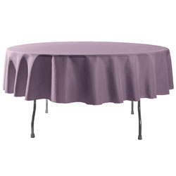 "106"" Round Polyester Table Cloths"