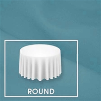 "Sample-  106"" Round Polyester Table Cloth"