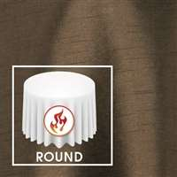 "108"" Round Polished-Luster Flame Retardant Satin Tablecloth"