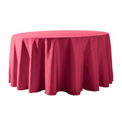 "114"" Round Polyester Table Cloths"