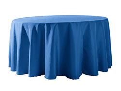 "Spun Polyester Tablecloth 132"" Round"