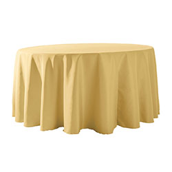 "118"" Round Polyester Table Cloths"