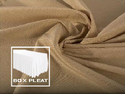 Box Pleat Spun Polyester Table Skirt 6 Foot Table - All Sides Covered