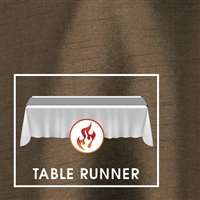 "12""x108"" Table Runners Polished-Luster Flame Retardant Satin (minimum of 5 runners)"