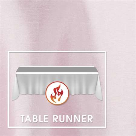 "12""x120"" Table Runners Polished-Luster Flame Retardant Satin (minimum of 5 runners)"