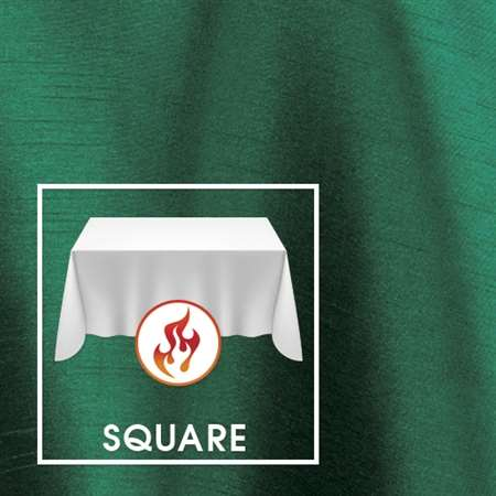 "120""x120"" (Actual 118"") Square Polished-Luster Flame Retardant Satin Tablecloth"