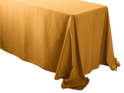 "Spun Polyester Rectangular Tablecloth 90"" x 132"""