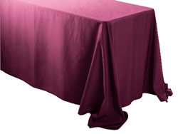 "Spun Polyester Rectangular Tablecloth 90"" x 156"""