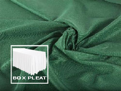 Box Pleat Spun Polyester Table Skirt 8 Foot Table - All Sides Covered