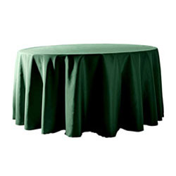 "126"" Round Polyester Table Cloths"