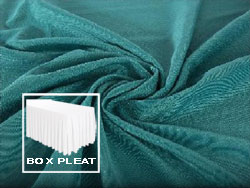 Box Pleat Spun Polyester Table Skirt 8 Foot Table - 3 Sides Covered
