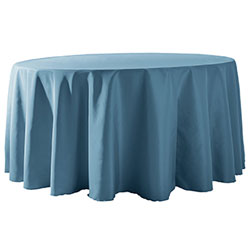 "130"" Round Polyester Table Cloths"