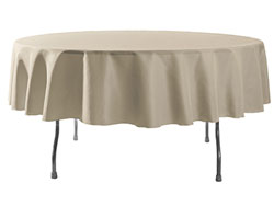 "Spun Polyester Tablecloth 90"" Round"