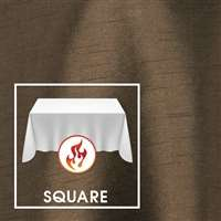"132""x132"" Square Polished-Luster Flame Retardant Satin Tablecloth"