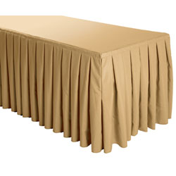 Box Pleat Polyester Table Skirts - 8 Foot Table (all sides covered) - 21 foot section