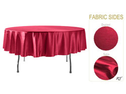 "Double Sided Satin / Dupioni 90"" Round Tablecloth"