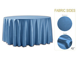 "Double Sided Satin / Dupioni 108"" Round Tablecloth"
