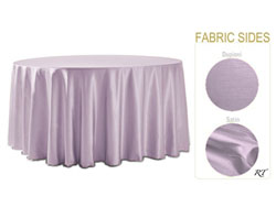 "Double Sided Satin / Dupioni 120"" Round Tablecloth"