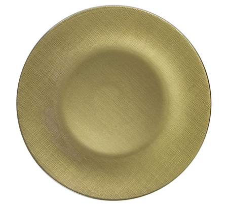 "13"" Chargeit by Jay Round Pamuk Gold Charger Plate - Set of 8 