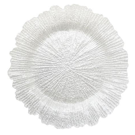 "13"" Chargeit by Jay Reef White Pearl Charger Plate - Set of 12"