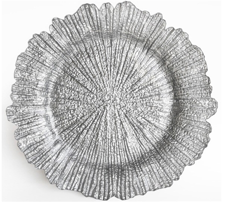 "13.5"" Chargeit by Jay Reef Silver Charger Plate - Set of 12"