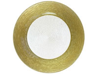 "12.5"" Chargeit by Jay Round Circus Gold Border Charger Plate - Set of 12 
