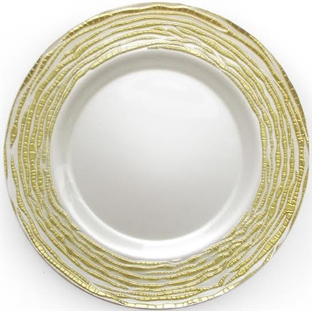"13"" Chargeit by Jay Round Arizona Gold Charger Plate - Set of 12 