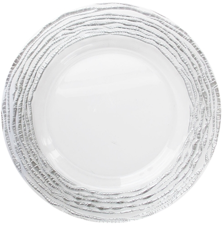 "13"" Chargeit by Jay Round Arizona Silver Charger Plate - Set of 12 