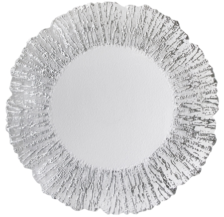 "13"" Chargeit by Jay Round Deniz Silver Charger Plate - Set of 6 