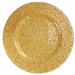 "13"" Chargeit by Jay Round Gold Glamour Charger Plate - Set of 12"