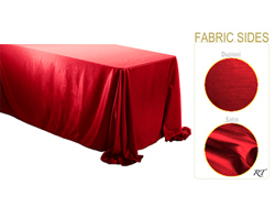 "Double Sided Satin / Dupioni 90"" x 156"" Rectangular Tablecloth"