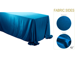 "Double Sided Satin / Dupioni 90"" x 132"" Rectangular Tablecloth"