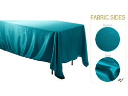 "Double Sided Satin / Dupioni 60"" x 120"" Rectangular Tablecloth"