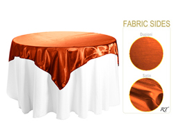 "Double Sided Satin / Dupioni 72"" x 72"" Square Tablecloth"