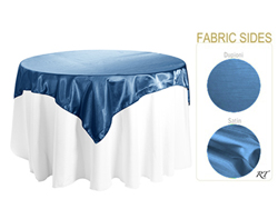 "Double Sided Satin / Dupioni 84"" x 84"" Square Tablecloth"