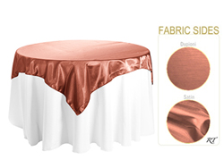 "Double Sided Satin / Dupioni 54"" x 54"" Square Tablecloth"