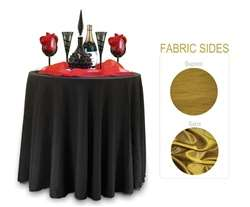 "Sample Double Sided Satin / Dupioni Tablecloth 108"" Round"