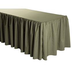 Rental - 7 Foot Polyester Shirred Tableskirt