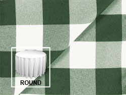 "Polyester Check 108"" Round Tablecloth"