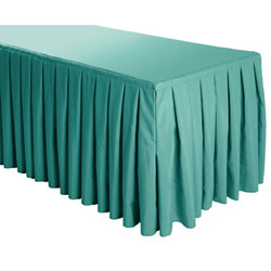 Box Pleat Polyester Table Skirts - 6 Foot Table (3 sides covered) - 11 foot section