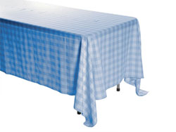 "Polyester Check  60"" x 120"" Rectangular Tablecloth"
