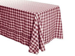 "Polyester Check  90"" x 156"" Rectangular Tablecloth"