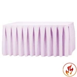 Rental 14ft Polyester Table Skirt - Table Skirt Rental for Events | RazaTrade