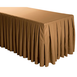 Box Pleat Polyester Table Skirts - 8 Foot Table (3 sides covered) - 13 foot section
