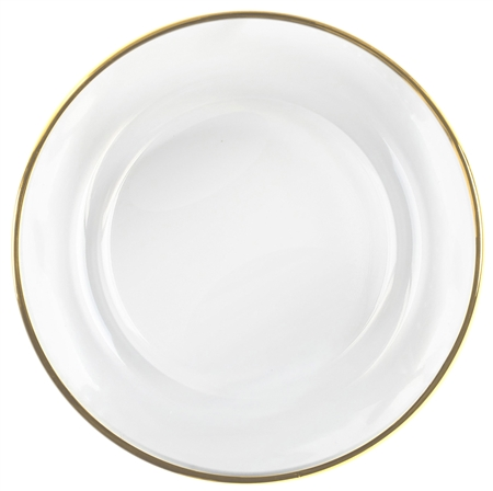 "13"" Chargeit by Jay Round Jay Gold Rim Charger Plate - Set of 12"