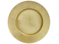 "13"" Chargeit by Jay Light Gold Antique Glass Charger Plate - Set of 12"