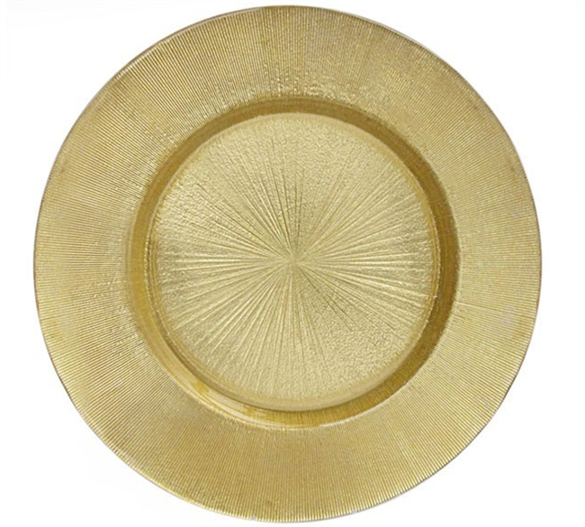 13  Chargeit by Jay Light Gold Antique Glass Charger Plate - Set ...  sc 1 st  RazaTrade & Buy Cheap and Best Quality Decorative Glass Charger Plates