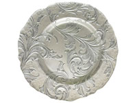 "13"" Chargeit by Jay Vanessa Silver Charger Plate - Set of 12"