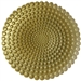 "12.5"" Chargeit by Jay Round Pearl Gold Charger Plate - Set of 12"